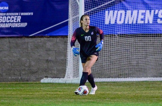 Goalkeeper Ella Dederick, a Newbury Park High graduate, has only allowed two goals in four NCAA tournament matches as Washington State women's soccer has reached this weekend's NCAA College Cup in San Jose.