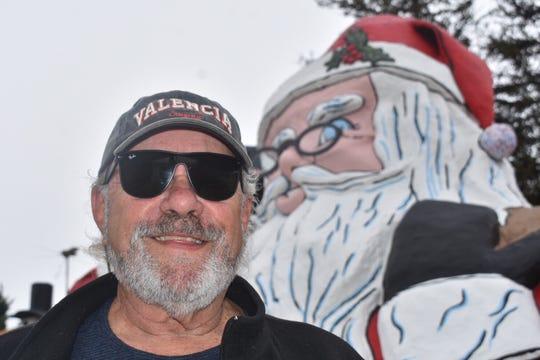 Mike Barber, president of Garden Acres Mutual Water Company, serves as Santa's caretaker.