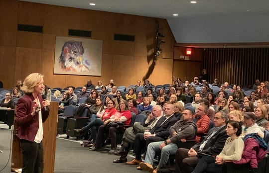 Michele Gay's presentation was attended by parents, teachers, school board members and Rockland County's newly-elected District Attorney Tom Walsh.