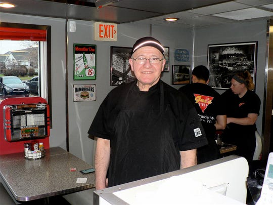 """Gus Selimi has owned Gus's Diner just west of Sun Prairie since 2008, he  came to the US in 1977 from Macedonia """"for a better life."""""""