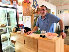 Sam Kasa who owns Sonny's Kitchen in Oregon was a barber in Macedonia but began as a dishwasher in the US.