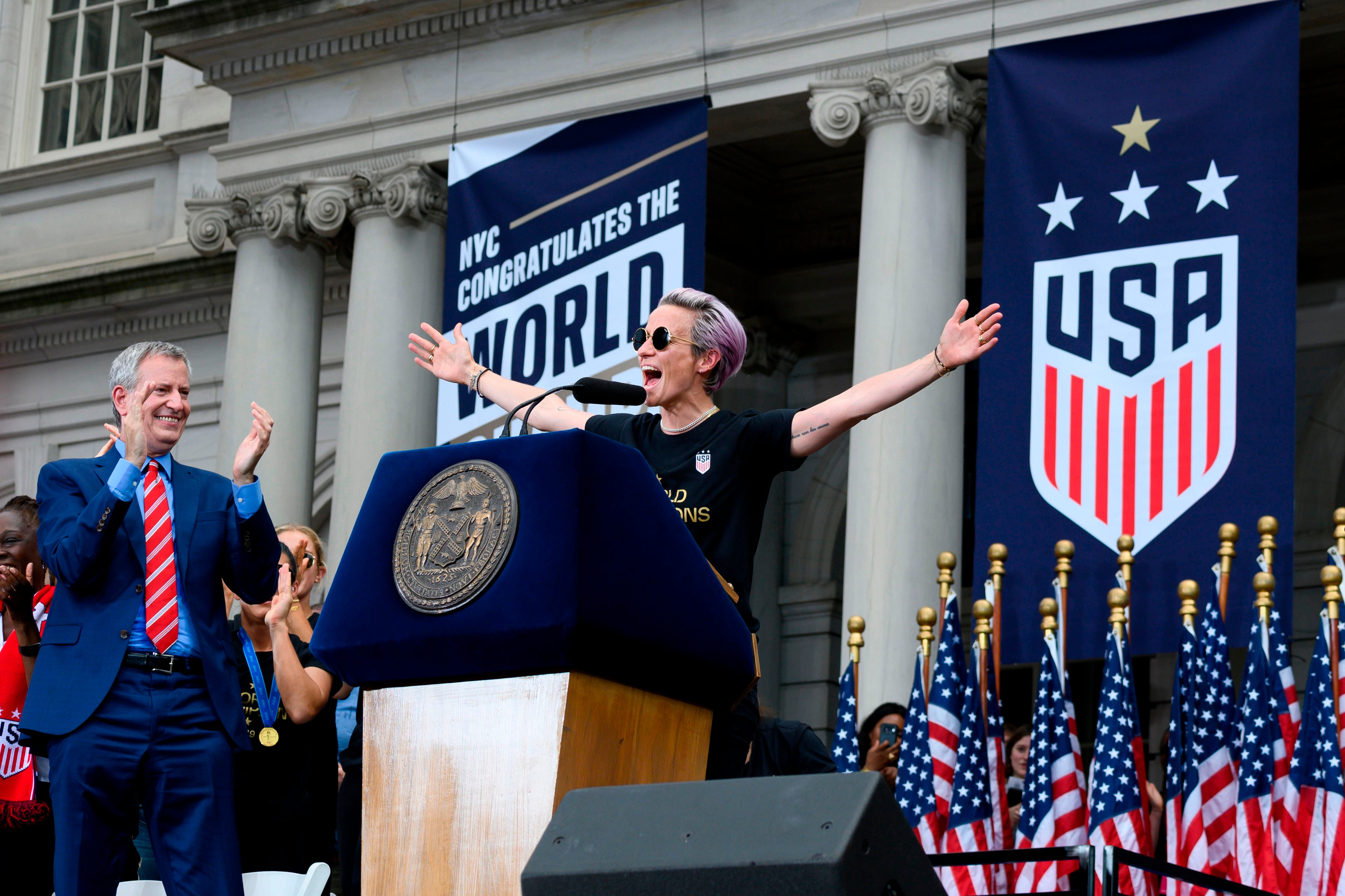 Megan Rapinoe calls on Lionel Messi, Cristiano Ronaldo to fight soccer's inequality issues