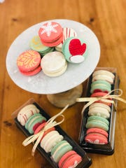 Holiday French macarons from The Vintage Cake in Atlantic Highlands.
