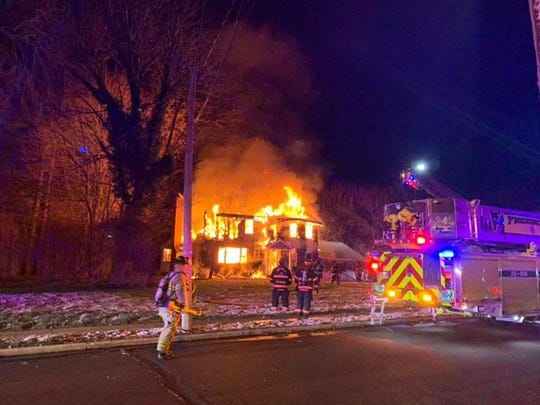 A house fire on Joysan Terrace in Freehold Township Dec. 4.