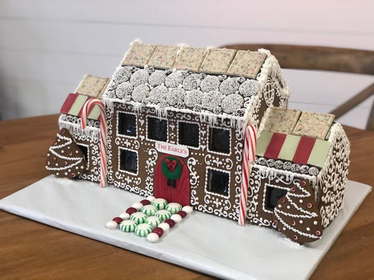 A customized gingerbread house from The Vintage Cake in in Atlantic Highlands.