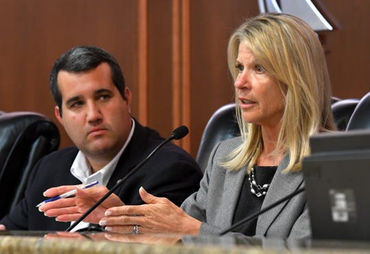 Florida Rep. Tyler Sirois, R-Merritt Island, and Florida Sen. Debbie Mayfield, R-Melbourne, hosted a town hall on passenger rail safety Wednesday at Melbourne City Hall.