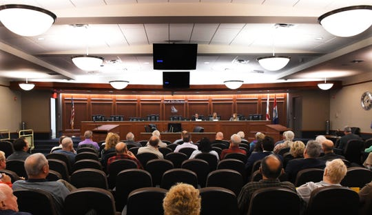 Florida State Rep. Tyler Sirios, R- Merritt Island, and Sen. Debbie Mayfield, R- Melbourne, held a December 2019 town hall at Melbourne City Hall to discuss safety legislation impacting Virgin Trains USA and passenger rail.