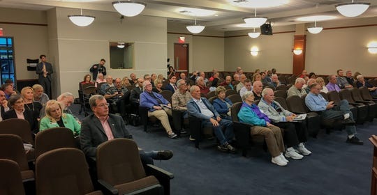 Wednesday's rail safety town hall drew a crowd to Melbourne City Hall.