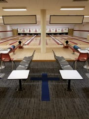 The bowling alley in the basement of St. Mark Parish church on North Avenue in Burlington's New North End.