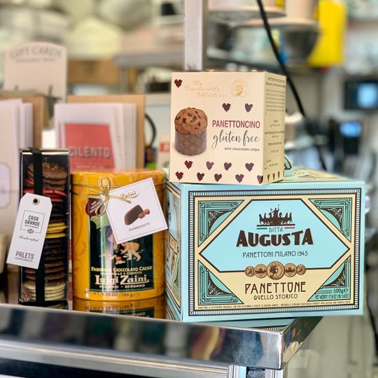 Panettone (or panettoncino if you want a smaller one) and other Italian specialty desserts are perfect for gift-giving from Valente's Italian Specialities in Haddonfield.