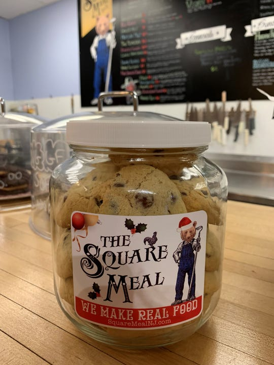 Need a hostess gift or one more present under the tree? These jars of chocolate chip cookies are from The Square Meal in Oaklyn. They are also available vegan/gluten-free.