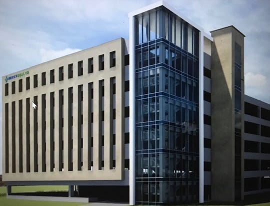 Here's a rendering of the seven-level employee parking garage Mercy Health wants to build at The Jewish Hospital - Mercy Health campus in Kenwood.