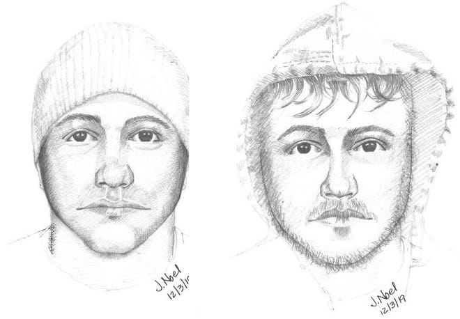 Police in North College Hill have released two artist sketches of a male who has reportedly touched teen girls or exposed himself to them as they walk to school in late November and December.