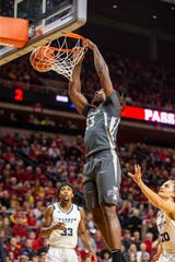 Iowa State's Solomon Young dunks the ball during a game against Kansas City Wednesday, Dec. 4, 2019.