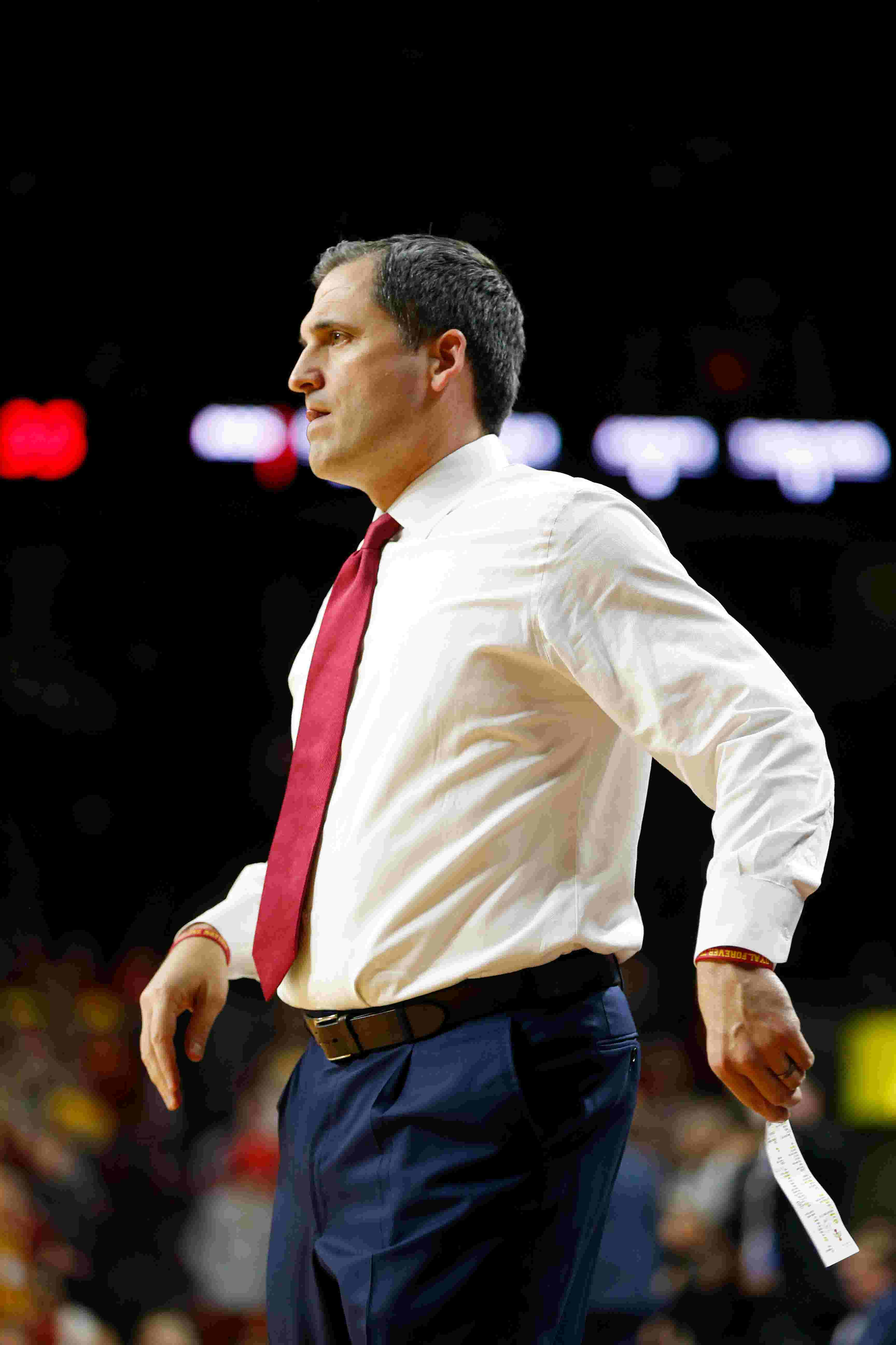 Iowa State coach Steve Prohm was elated with beating Seton Hall