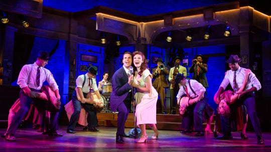 "The cast of Tony-award winning Broadway musical ""Bandstand."""