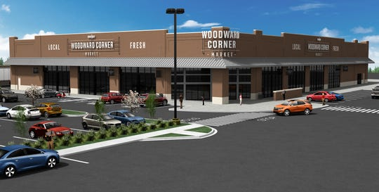 Renderings of the new Woodward Corner Market by Meijer in Royal Oak.