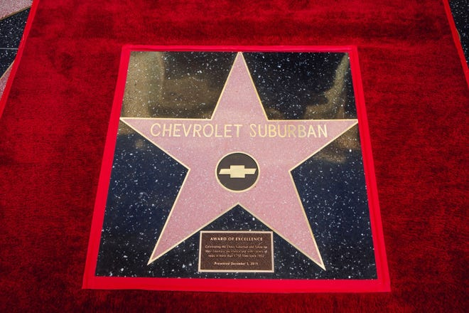 The Chevrolet Suburban gets its star on the Hollywood Walk of Fame.
