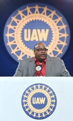 United Auto Workers President Rory Gamble at this year's union bargaining convention.