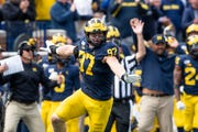 Michigan defensive lineman Aidan Hutchinson