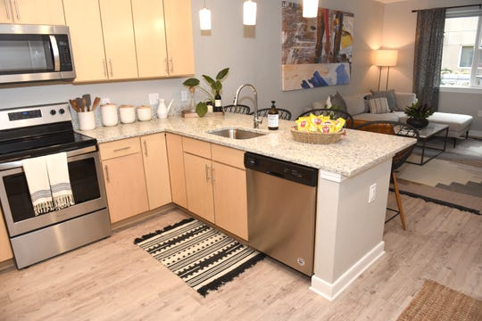 The Baltimore style apartment at The Boulevard has 687-760 square feet with one bedroom and one bathroom.