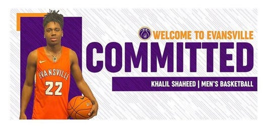 The Oldsmar Christian basketball team tweeted Thursday that point guard Khalil Shaheed has committed to UE.