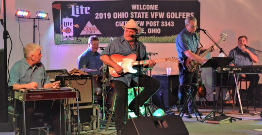 Jim Sleek and his band Uptown Country Band play at the Clyde VFW on Nov. 9. From left are Ron Lykins, Jim Sleek, T.J. Thomas, Dan Long and Wes Linenkugel.