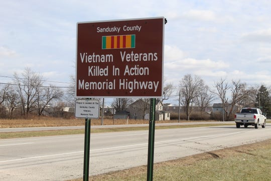 A new Sandusky County Vietnam Veterans Killed in Action Memorial Highway sign was installed Wednesday on W. State Street. A plaque honoring the 31 county Vietnam veterans killed in action is at the Sandusky County Veterans Memorial Park.