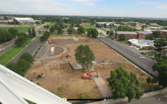 The new 1,600-bed Meridian Village will be constructed on the former site of Aylesworth Hall on the CSU campus. Construction will begin next year and be completed in 2022.