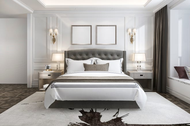 Using a few tips, your master bedroom can feel like a luxury hotel room.
