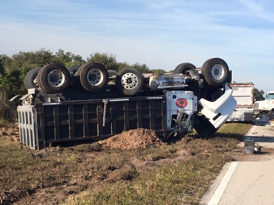 Lehigh Acres tractor trailer driver causes series of crashes in Glades County Thursday, Dec. 5, 2019.