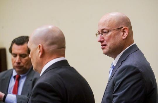 Mark Sievers reacts as he is found guilty of the murder of his wife Dr. Teresa Sievers on Wednesday Dec, 4, 2019. .
