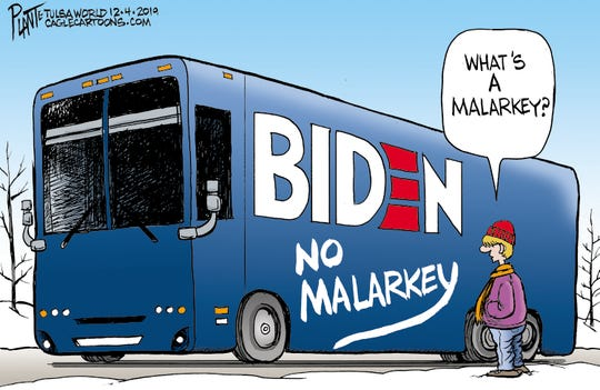 Biden's Malarkey Bus, Vice President Joe Biden, 2020 Democratic presidential primary, Iowa, not the youth vote