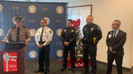 Members of the Florida Highway Patrol, the Lee County Sheriff's Office, Cape Coral Police Department, Fort Myers Police Department, and the Lee County Trauma District, gave a shout out Thursday to remind Southwest Florida drivers to stay safe during the holidays.