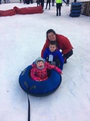 Amanda Allen with her two children