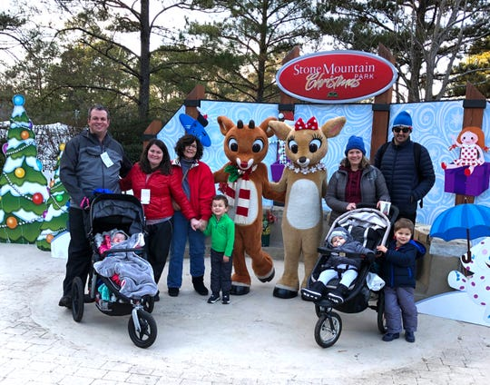 The Allen Family at Stone Mountain Park