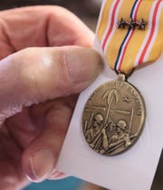 In August 2017, Gerald Cleveland, of Anderson, a World War II U.S. Army veteran who survived the Pearl Harbor attack in 1941, holds The AsiaticÐPacific Campaign Medal with Bronze stars, he also earned The American Defense Service Medal, the World War II Victory Medal, The Good Conduct Medal, the Philippine Liberation ribbon with bronze star, and the Honorable Service Commemorative Military Medal.