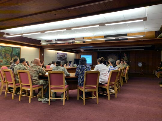 The Department of Public Health and Social Services and others met Dec. 5 at Adelup with the 1984th Army Reserve from Hawaii to discuss a medical mission planned for June.