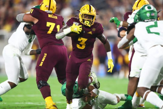 Eno Benjamin rushed for 1,642 yards as a sophomore at Arizona State and is at 1,083 this season entering the bowl game.