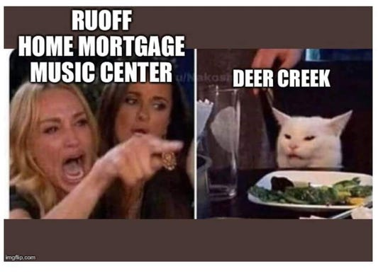 The cat meme shared on Facebook in reaction to Ruoff's new name.
