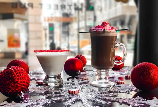 Enjoy peppermint coffee and cocktails.