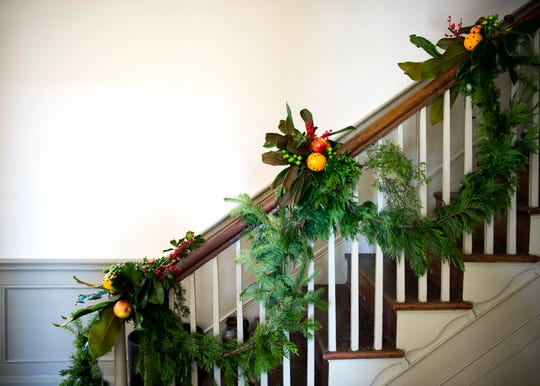 The Knoxville Garden Club decorated Blount Mansion and the Craighead-Jackson House for Christmas on Thursday, Dec. 5.