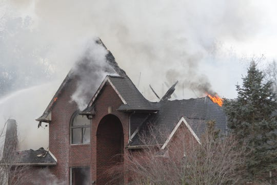 A fire that broke out in the 1900 block of Bridgets Way in Unadilla Township Thursday, Dec. 5, 2019 destroyed the home.