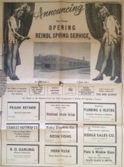 This advertisement appeared in the News Journal in 1948 when Reindl Spring Service opened its newly constructed building at 250 Park Avenue East.