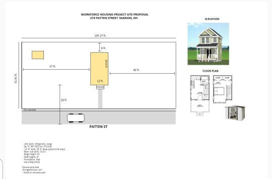 This photo shows the plan for workforce housing being proposed by local ministers Bishop Greg Draper and Bishop Corredon Rogers. The two men will meet with the Marion Board of Zoning Appeals at 6:30 p.m. on Tuesday, Dec. 10, at which time the board will once again consider their requests for variances regarding their proposals. On Nov. 12, the BZA tabled Rogers' request and denied Draper's request.