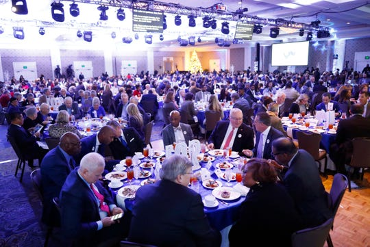 Greater Memphis Chamber holds its annual luncheon at the Peabody Hotel on Thursday, Dec. 5, 2019.