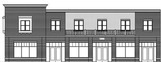 The two-story building would have street-level retail space and an upper-level apartment.