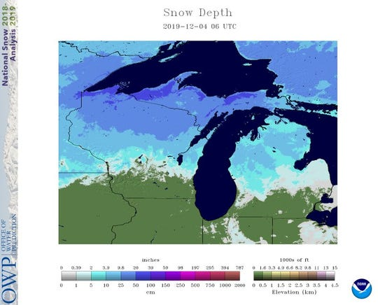 All but far southern Wisconsin is covered by snow, after Thanksgiving week storms moved through the Upper Midwest. More snow is possible early next week.