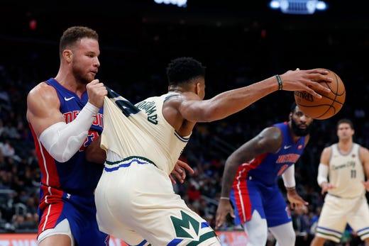 Giannis Antetokounmpo says Detroit Pistons like to play 'dirty'