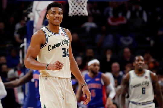 Bucks forward Giannis Antetokounmpo had 35 points and nine rebounds Wednesday night.